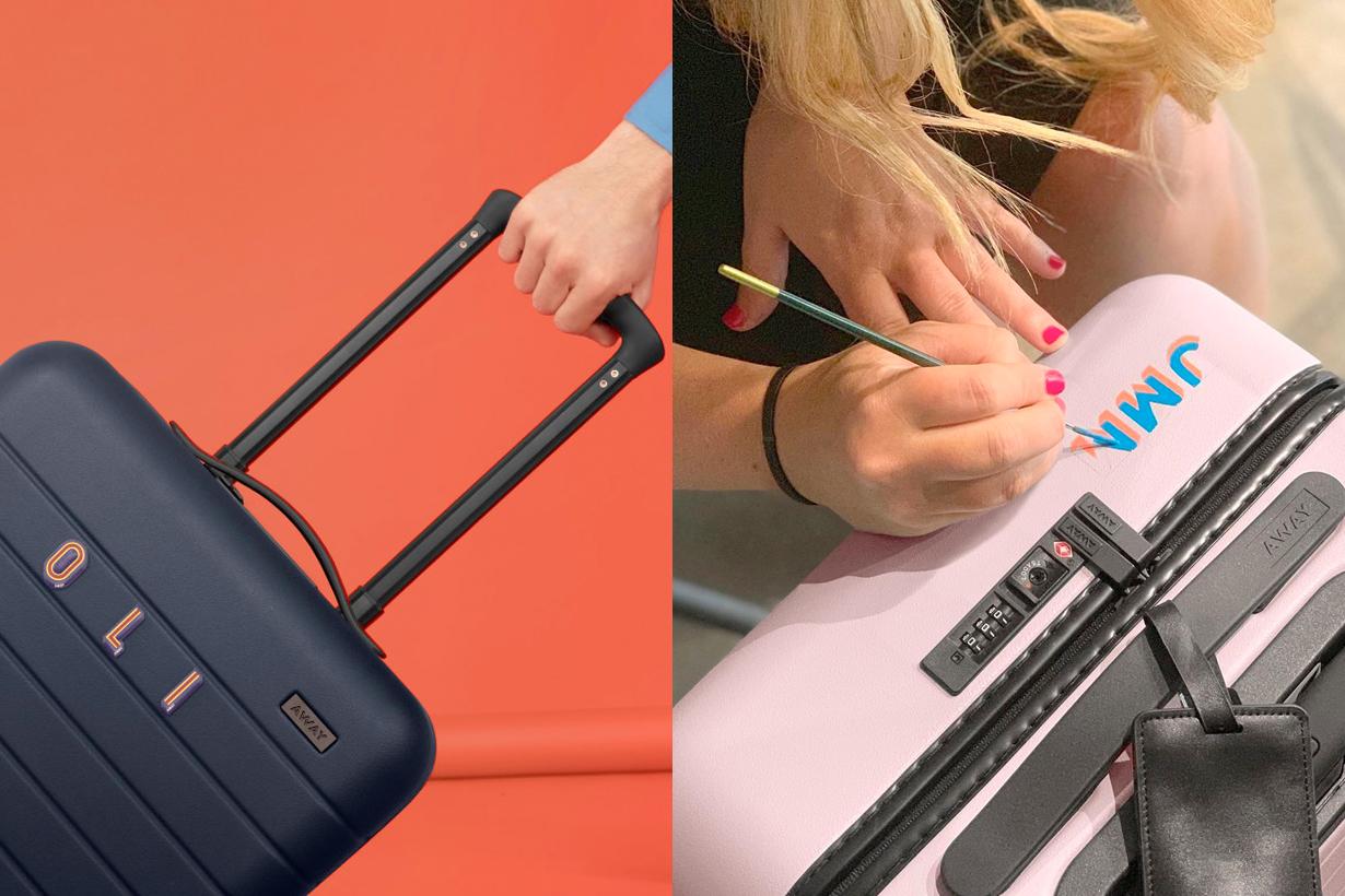away suitcase customize initials