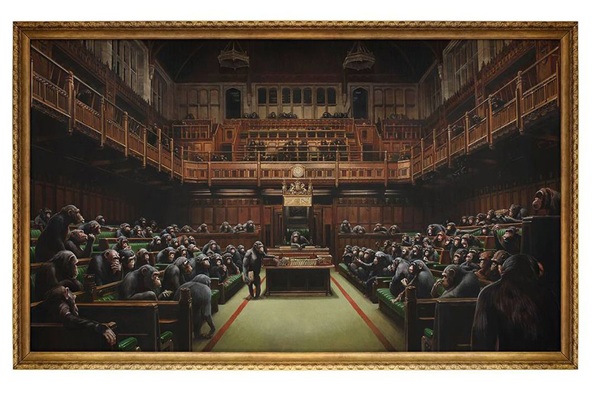 banksy devolved parliament sothebys london auction exhibition
