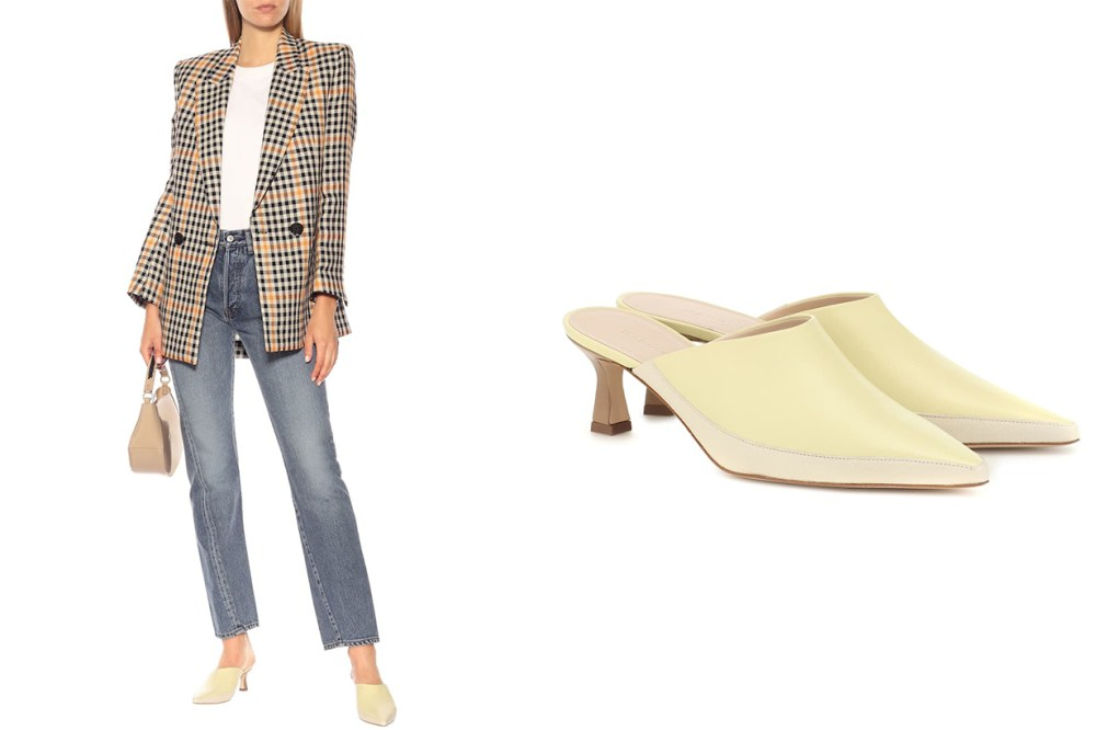 Bente Two-Tone Leather Mules