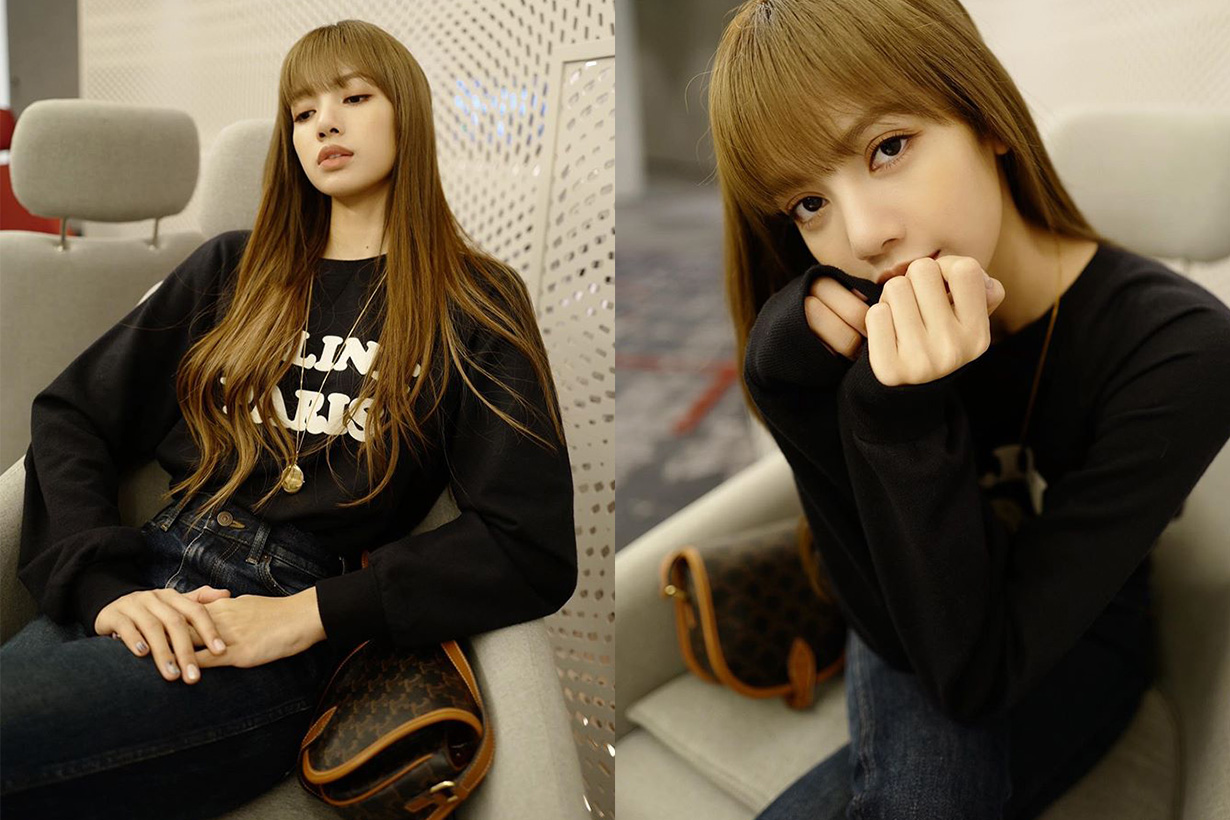 blackpink lisa celine airport style for Paris fashion week ss2020