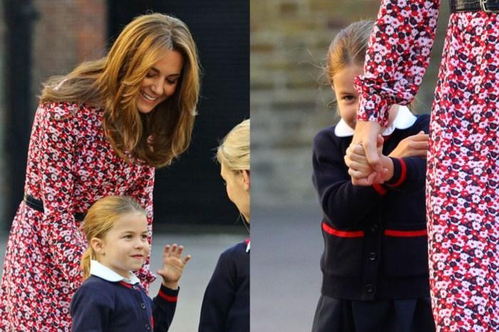 帶孩子上學也這麼美!凱特這身打扮,完全是秋季時尚教材