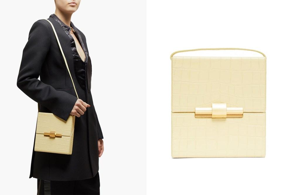 Cigarette Box Crocodile-Effect Leather Bag