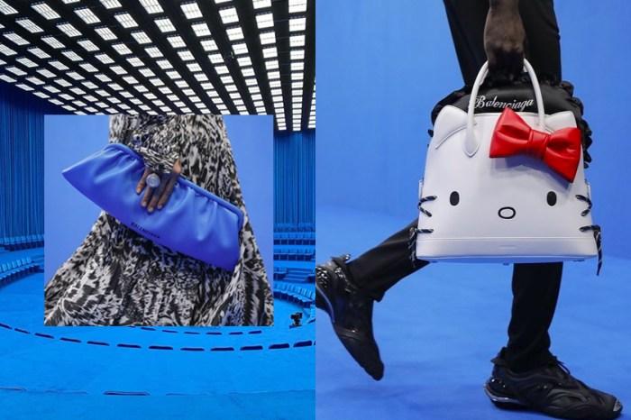 #PFW:一向酷帥的 Balenciaga,伸展台上怎麼會出現這款  Hello Kitty 手袋?