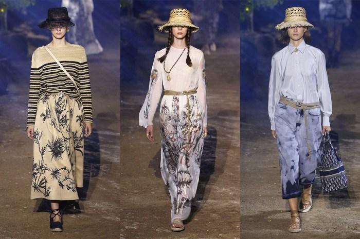 #PFW:向最初的 Miss Dior 致敬,植物刺繡、草編帽⋯質樸仍不減唯美!