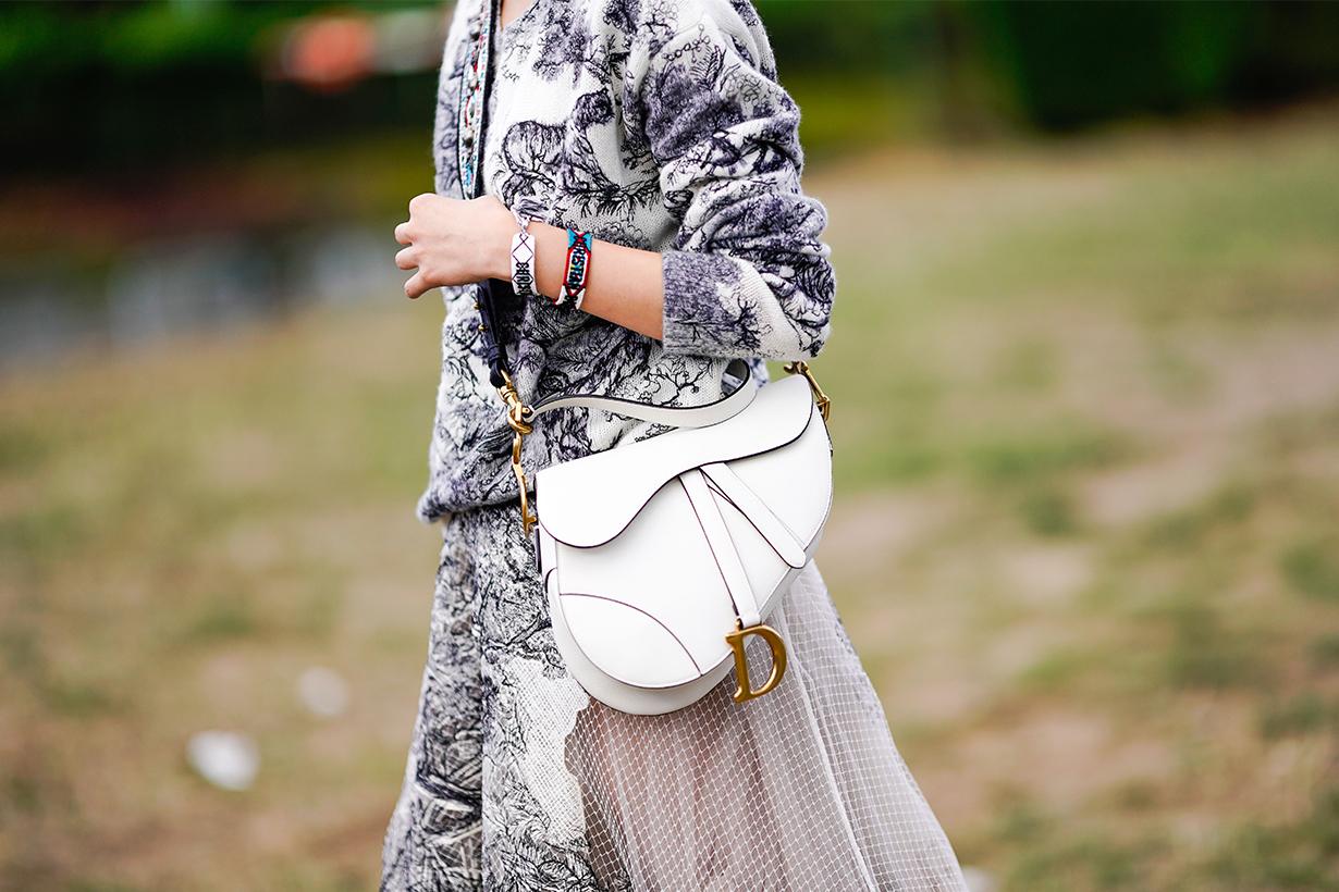Dior's New Saddle Bag In Embroidered Denim