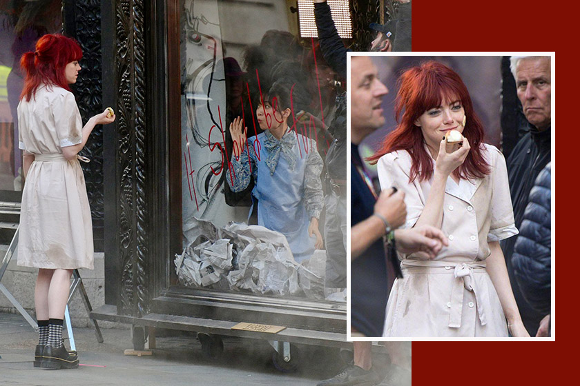 Emma stone curella red hair movie disney one hundred and one dalmatians