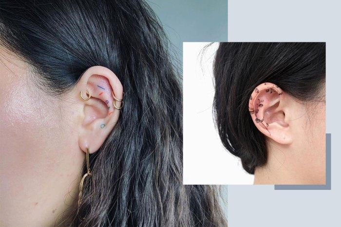 任何配飾都不及它獨特時尚!這些性感又神秘的耳朵紋身會讓你心動不已