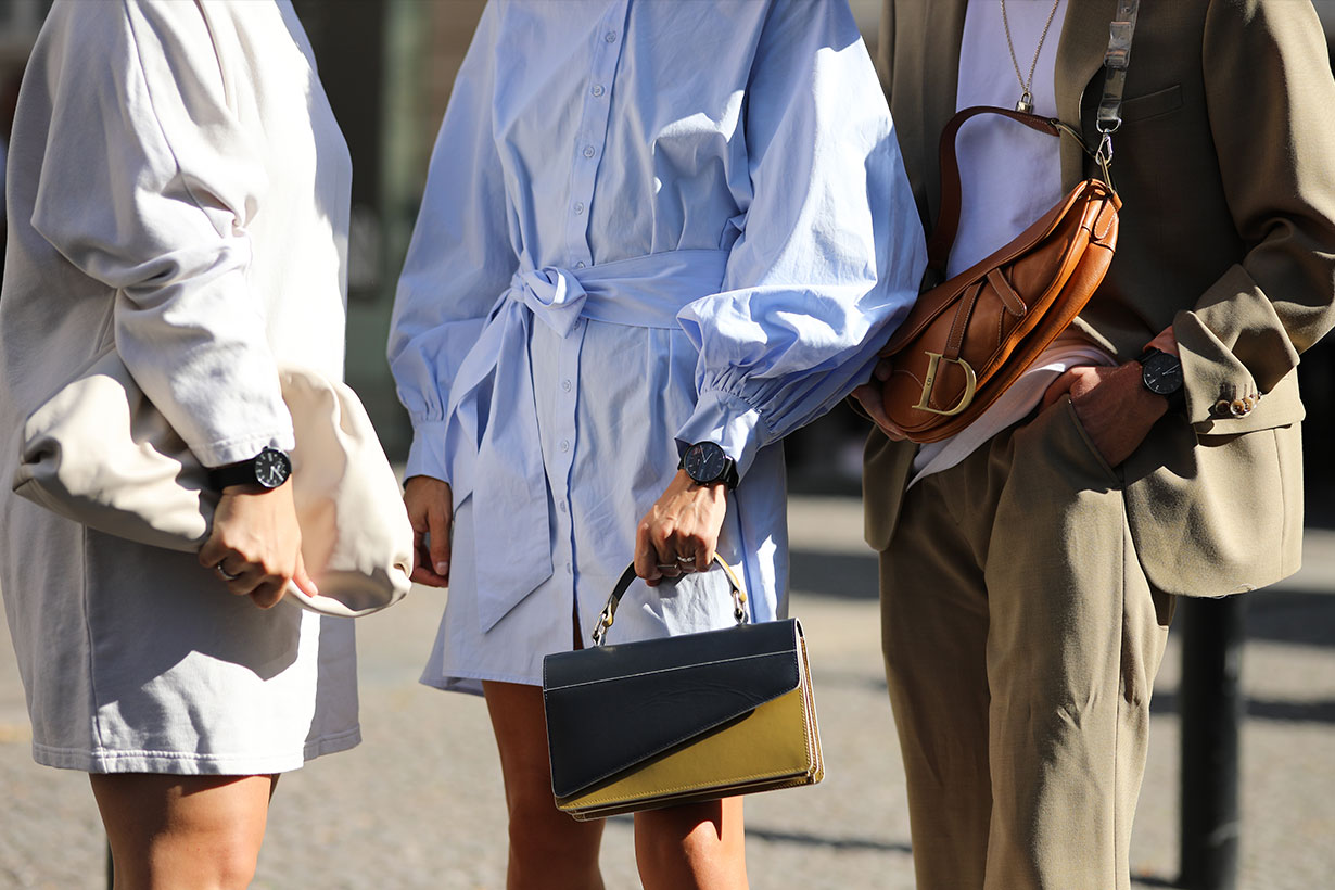 Fendi Baguette bag fashion week street style