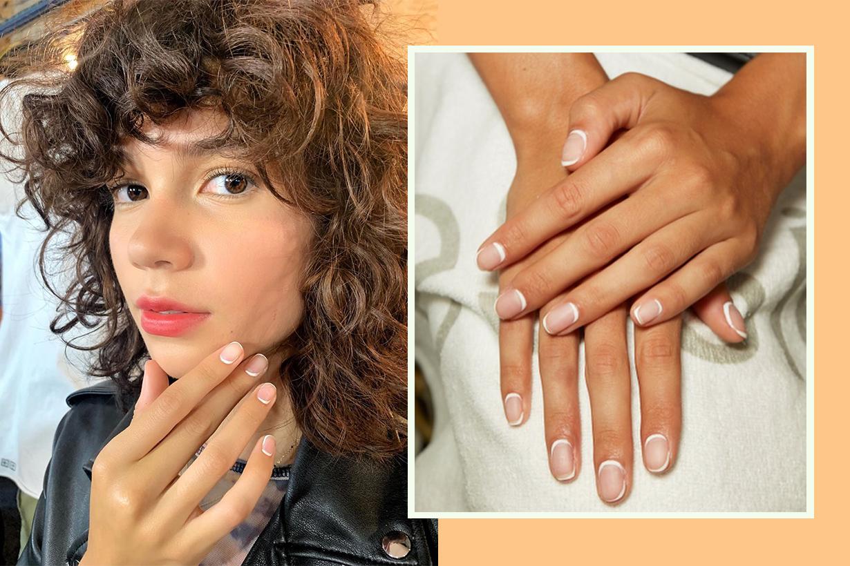 French manicure nail arts design Betina Goldstein Essie nail art trend 2019