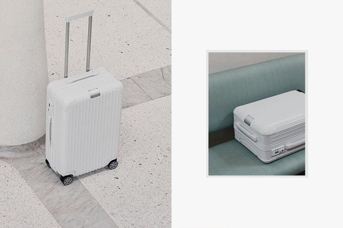 絕美冷淡:Rimowa 推出這款全白行李箱,散發簡潔純淨的脫俗氣質!