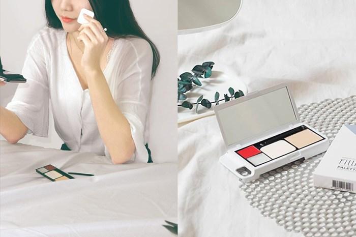 社群討論爆炸:韓國品牌推出這款彩妝盤手機殼,出門不用再帶化妝包了!