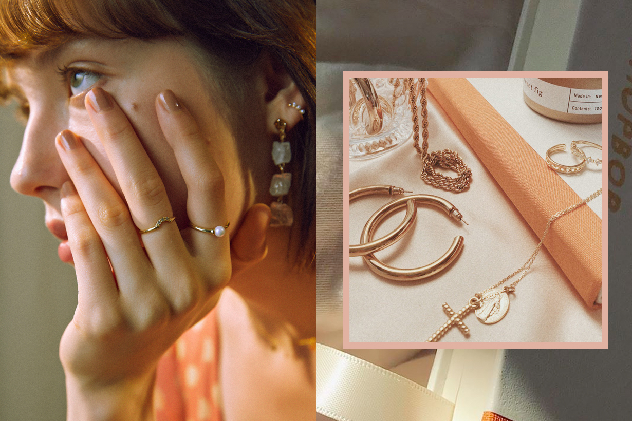 gold digger accessory taiwan earring necklace ring bracelet