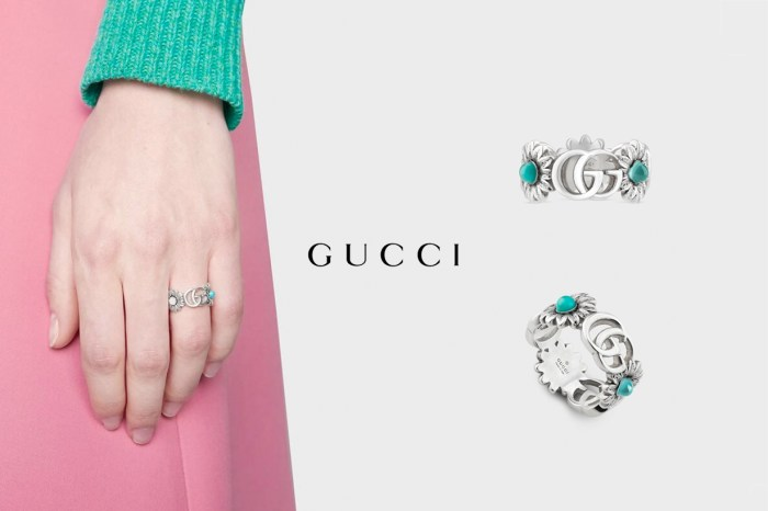 隱藏版熱款:鑲有珍珠母的 Gucci 小花戒指,在 IG 人氣急速攀升中!