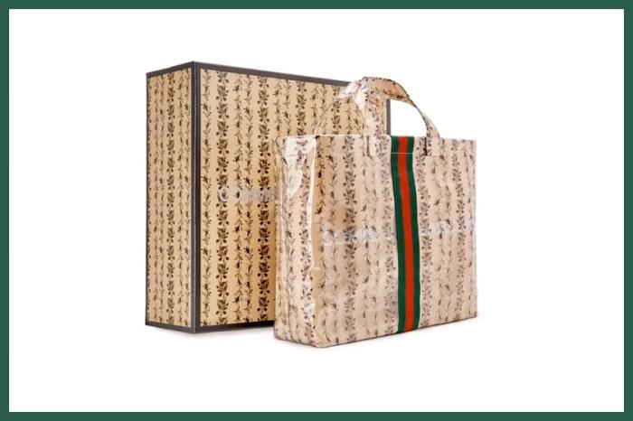 前一回光速售罄:CDG x Gucci 再度攜手,這次將「牛皮紙袋」印上浪漫花卉!