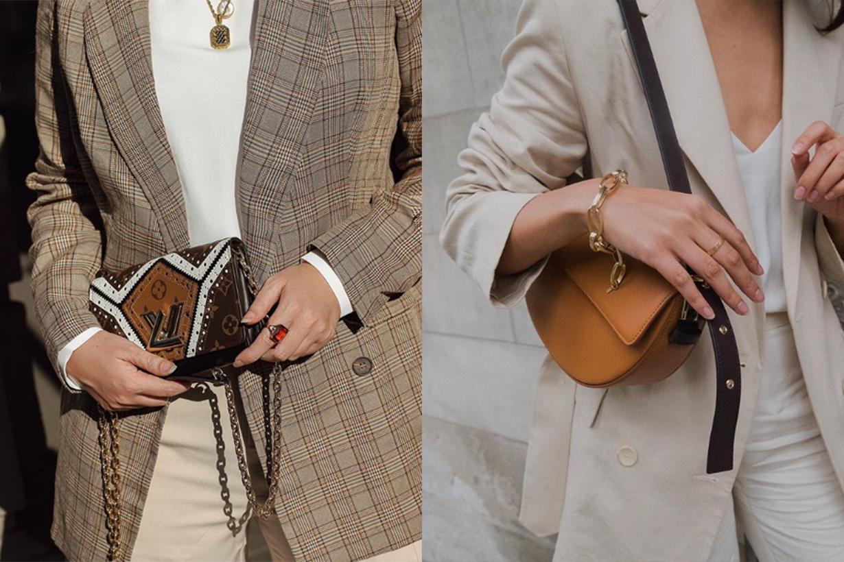 Designer Handbags With Logo Printed