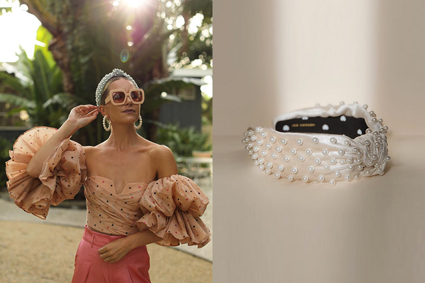 lele sadoughi pearl headband lookalike amazon