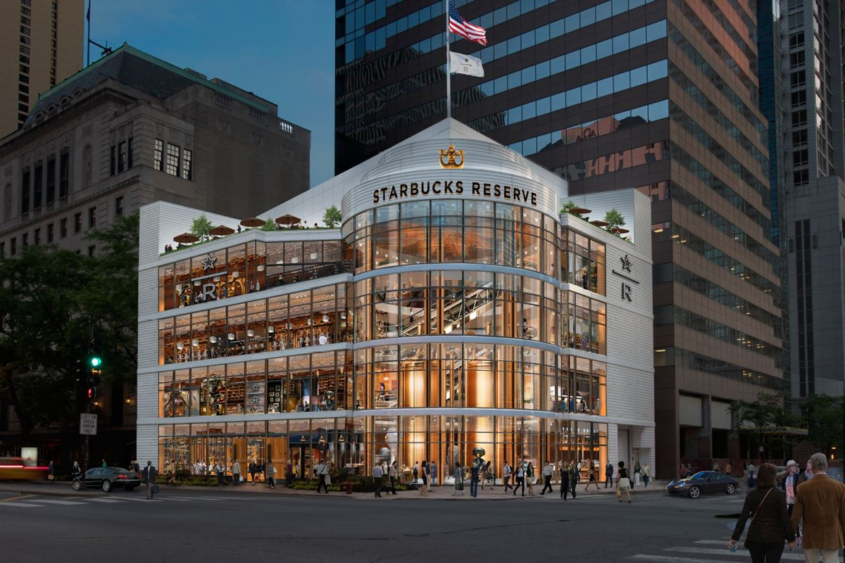 Starbucks Reserve Roastery largest store chicago