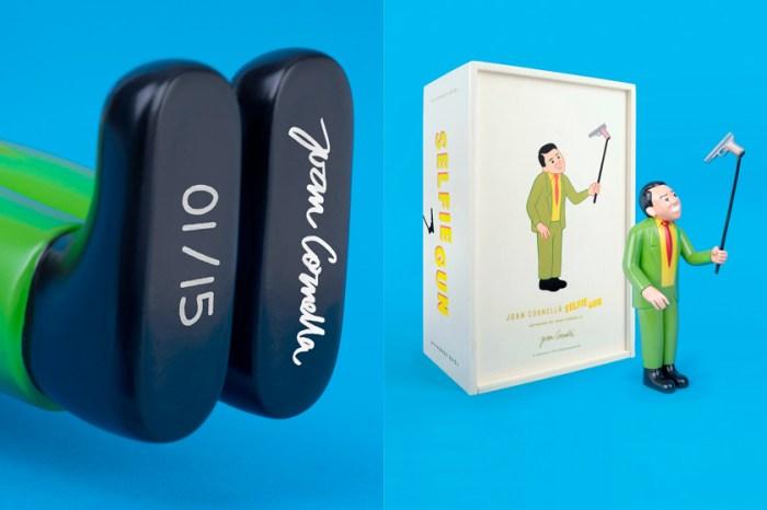 全球限量 15 枚!西班牙黑色幽默插畫家 Joan Cornellà 推出成名作「Selfie Gun」雕塑