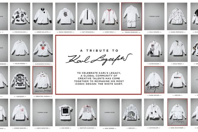 karl lagerfeld the white shirt project design charity