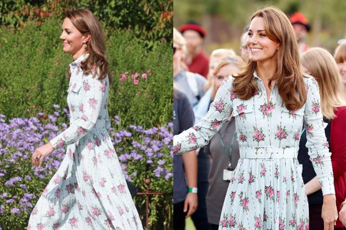 平貴品牌混搭術:凱特的飄逸印花裙下,是一雙平民價鞋款!