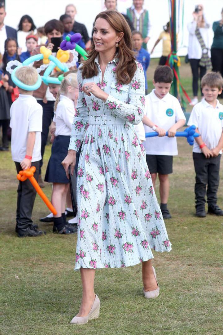 Kate Middleton Goes Gardening in an Emilia Wickstead Dress
