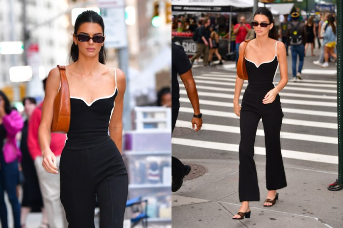 Kendall Jenner 又因一張街拍照成為話題,網民:「這腰身有科學?」