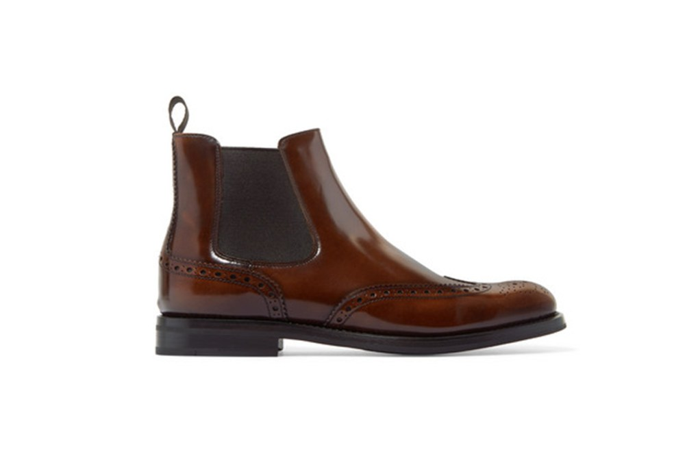 Ketsby Glossed-Leather Chelsea Boots
