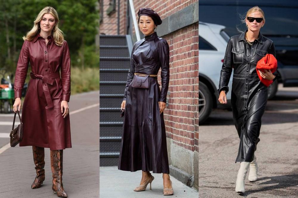 Leather Dress Street Style