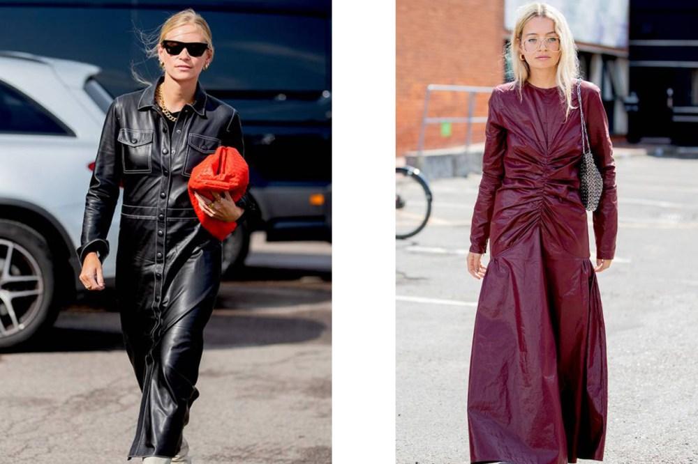 Leather-dress
