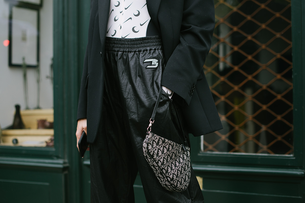 Leather Pants paris fashion week street style ss 2020