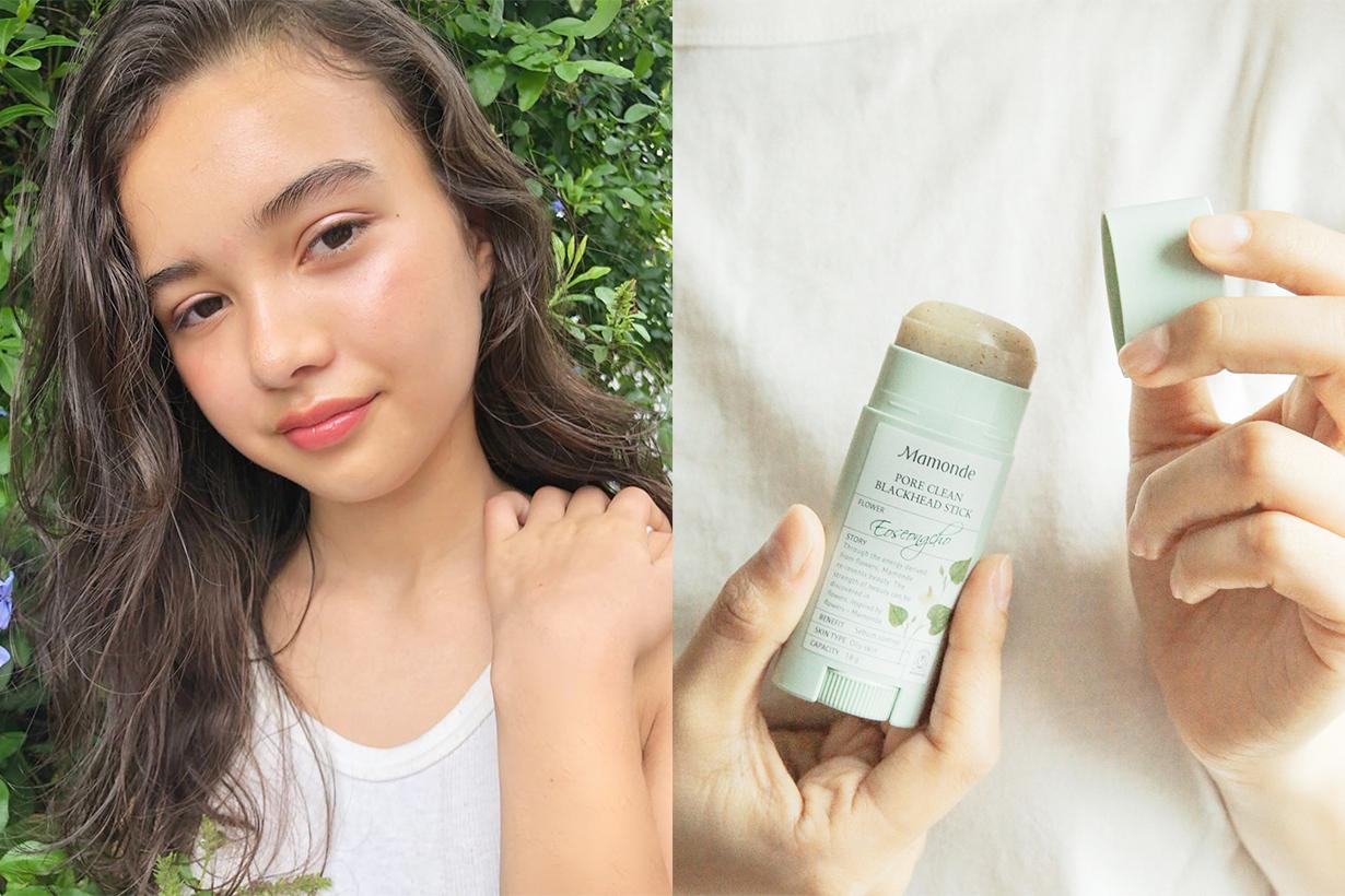 Mamonde Pore Clean Blackhead stick heartleaf houttuynia korean skincare oily skin pimples blackheads blemishes pore cleaning