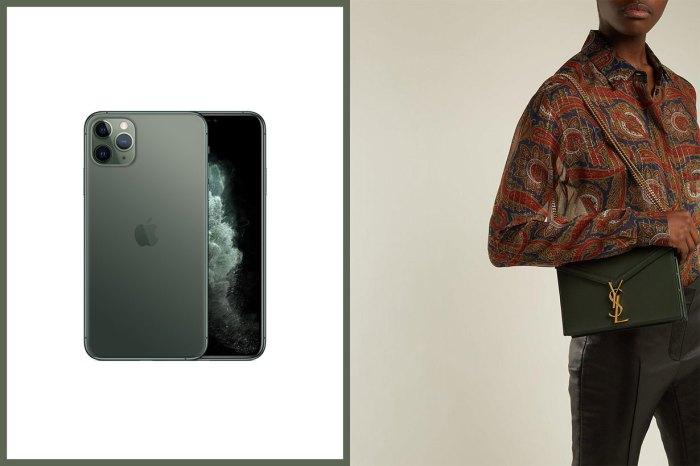 新一代 iPhone 推出前所未有的午夜綠!當然要以同色系的奢華名牌手袋、小物來襯托!