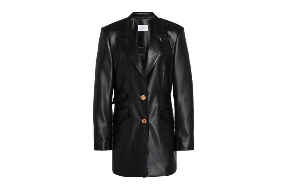 Nanushka Cancun Faux Leather Blazer