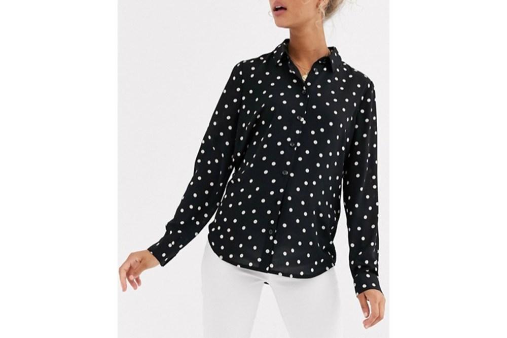 New Look Shirt in Polka Dot