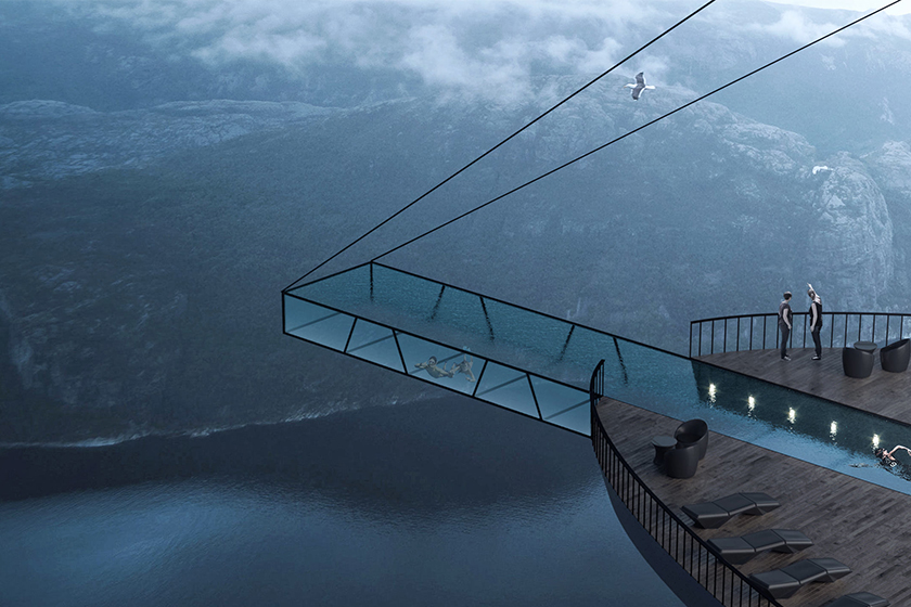 norway Preikestolen's cliff travel cliff concept boutique hotel Hayri Atak Architectural Design Studio
