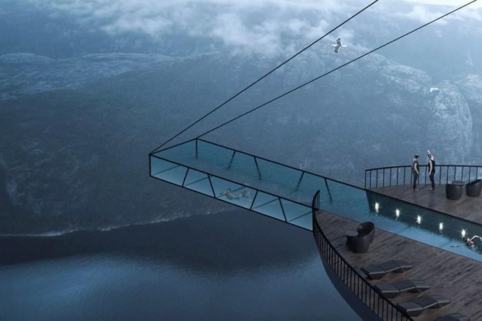 挪威下一個最熱門酒店:聖壇岩這間懸崖酒店,你敢到游泳池游一趟嗎?