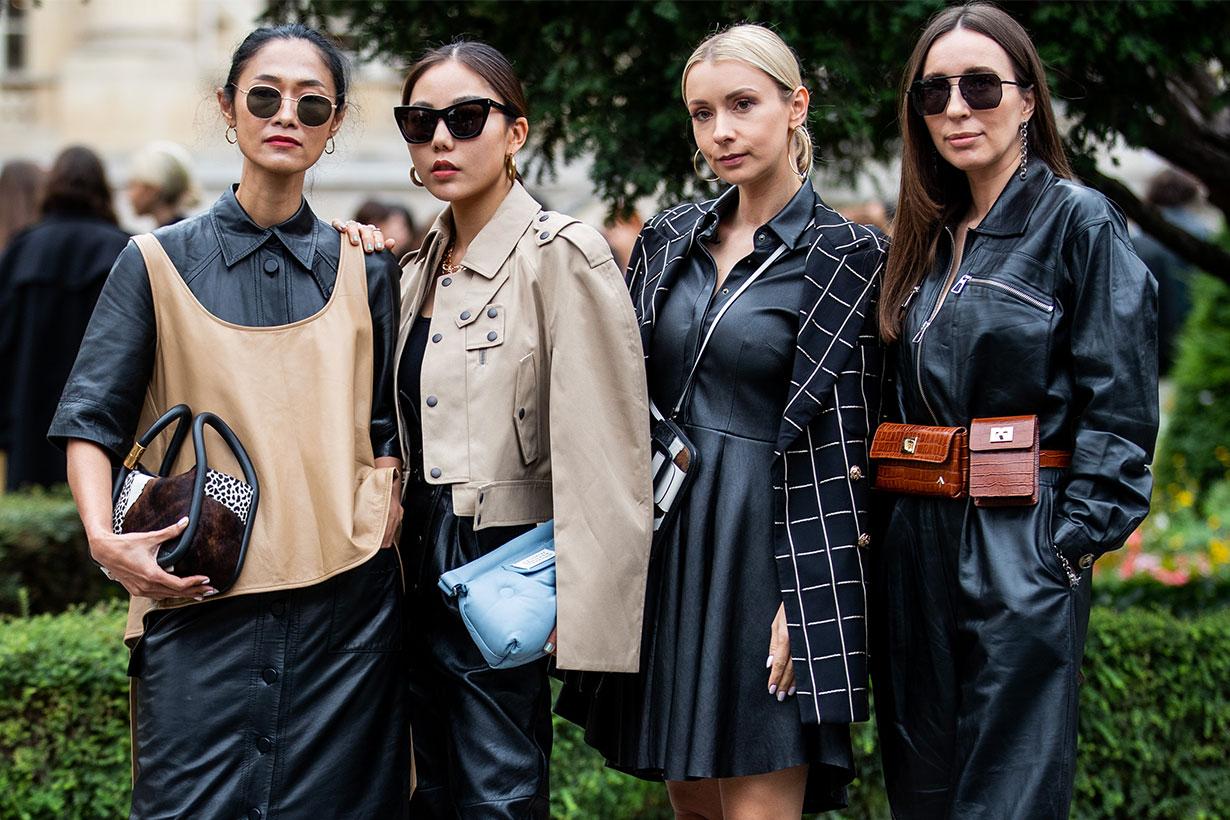 Paris fashion week ss2020 street style handbags