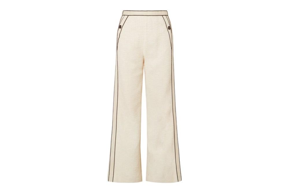 Poppy Piped Cotton-Bouclé Pants