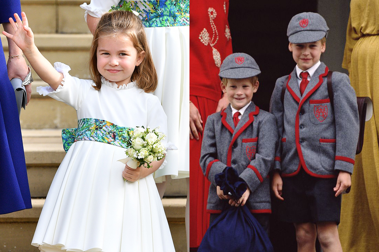 Royal family first day at school