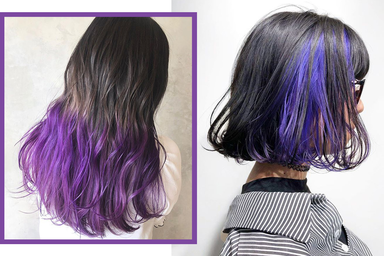 Purple Hair Dye ideas Japanese style