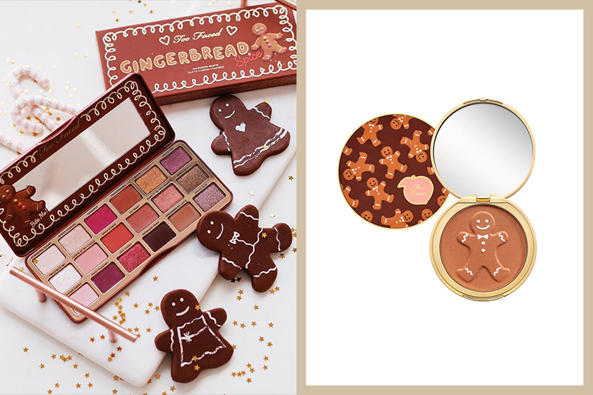 Too Faced Ginger bread Spice Christmas make up collection
