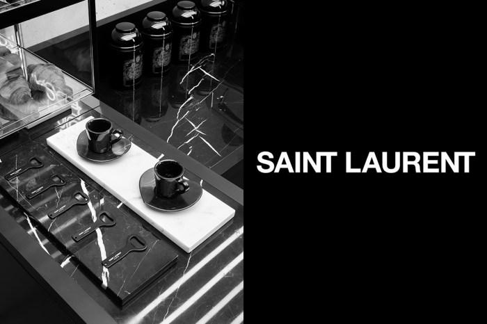 Saint Laurent 巴黎開 Café!黑色咖啡杯上藏驚喜