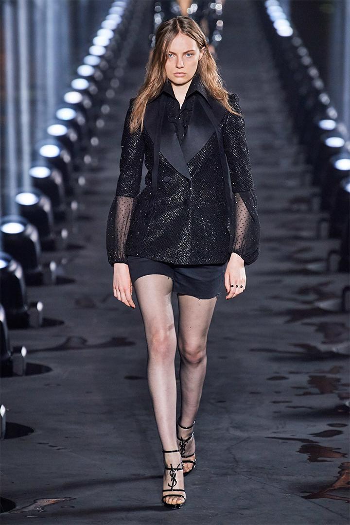 Saint Laurent SS20 Paris Fashion Show By Anthony Vaccarello