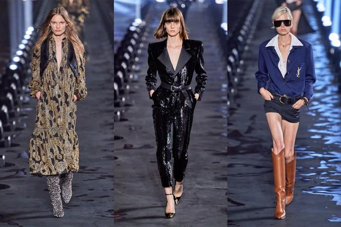 #PFW:Saint Laurent 細膩浪漫的一面!西裝+短褲的穿法必成潮流