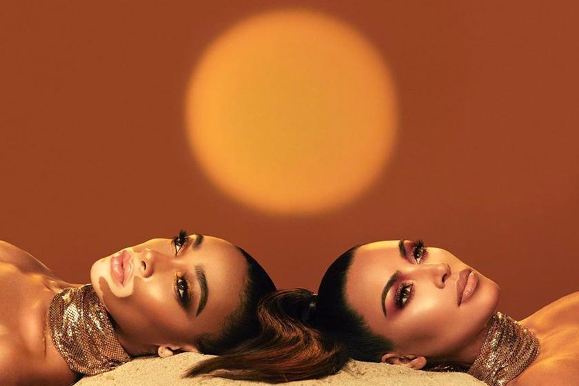 Kim Kardashian x Winnie Harlow KKW Beauty make up collection
