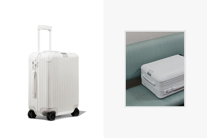 Rimowa white Essential Cabin collection
