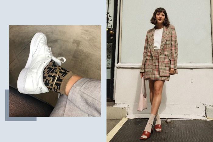 再度流行的「長襪+任何鞋」,學會這穿搭技巧就像多了一對新鞋款!
