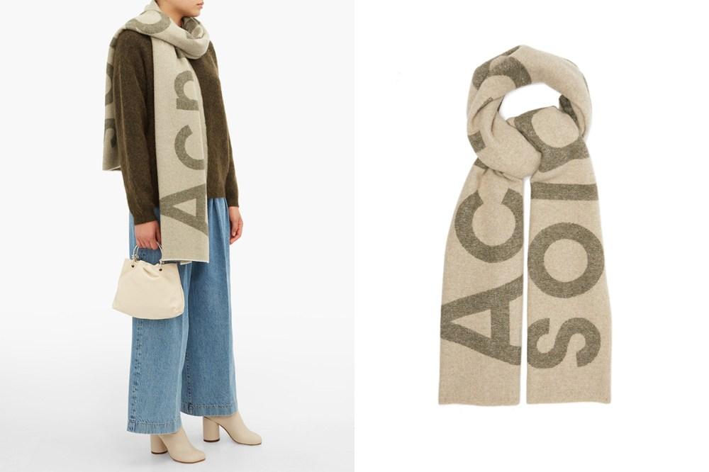 Toronty Intarsia Wool-Blend Scarf