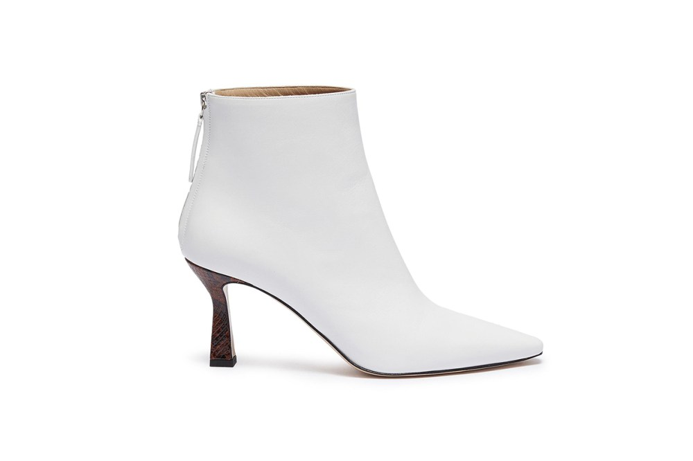 Wandler Lina Python Embossed Heel Leather Ankle Boots