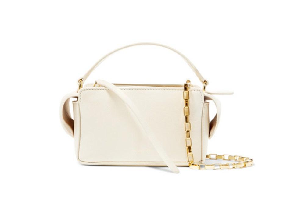 Yara Box Textured-Leather Shoulder Bag